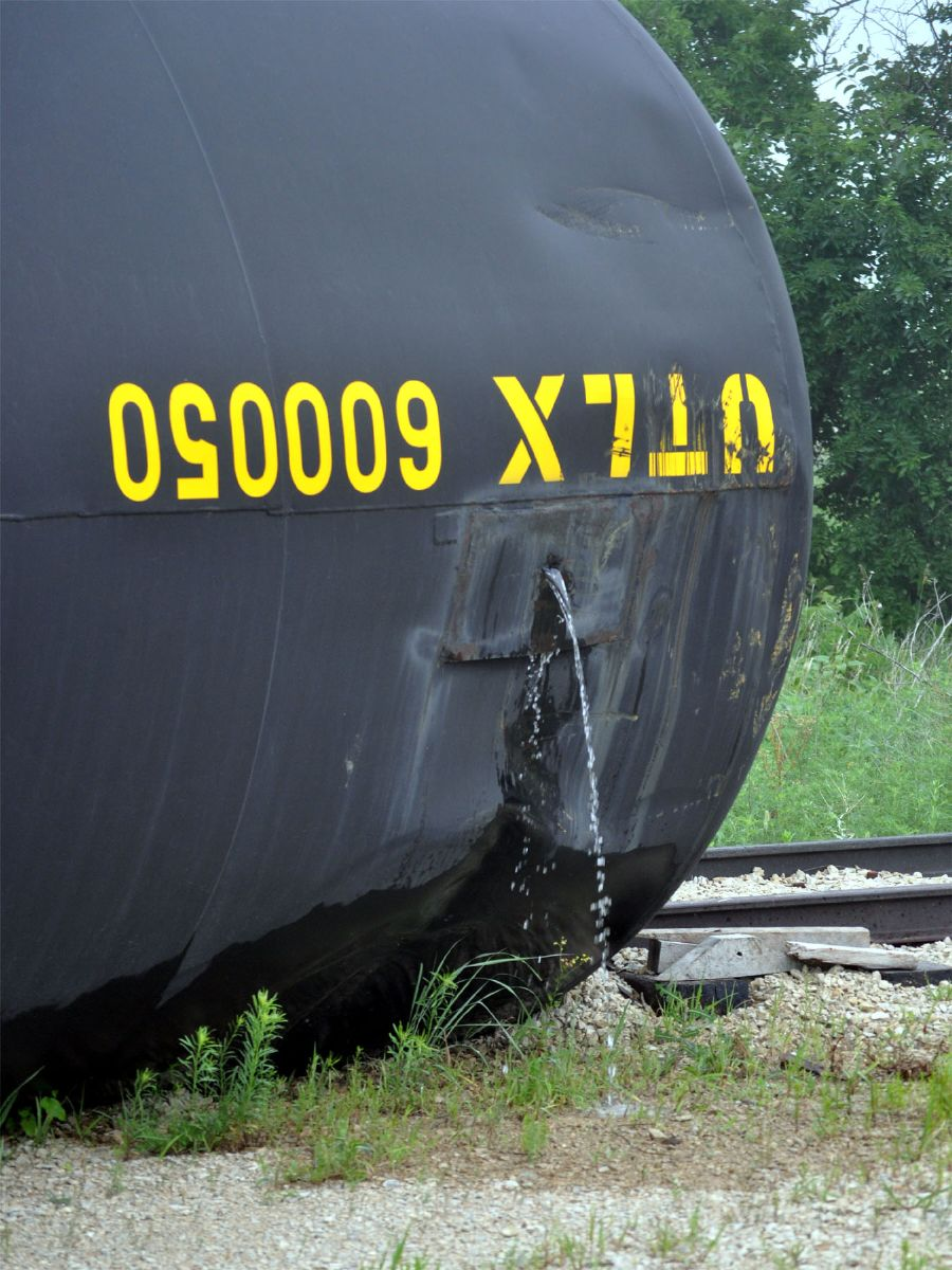 Leaking tank car